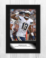Keenan Allen 1 NFL Los Angeles Chargers photograph poster choice of frame