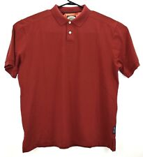 Tommy Bahama Men's Relax Fit Polo shirt Size XL Pima Cotten Burgundy