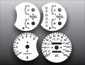White Face Gauge Kit Fits 1998-1999 Kia Sephia Dash Gauge Cluster 98-99