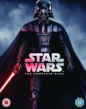 Star Wars Complete Saga Bluray Harrison Ford Ewan McGregor UK Rel New Sealed R2