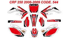 544 HONDA CRF 250 2006 2007 Autocollants Déco Graphics Stickers Decals Kit
