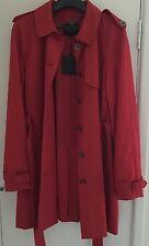 Ladies Red Hobbs Of London Rain Coat. Size 18.