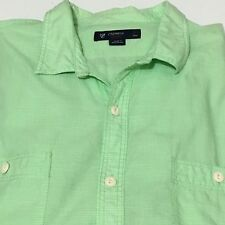 Cremieux Classics Mens Size Large Button Front Roll Tabs Sleeve Cotton Shirt