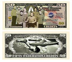 100 Limited Edition Star Trek 50th Anniversary Collectible Bills