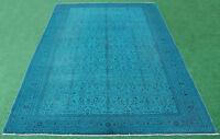 Turkish Rug 79''x117'' Hand Knotted Color Transition Blue Vintage Rug 202x300cm