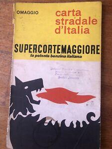 CARTA STRADALE D'ITALIA - OMAGGIO AGIP - ANNO 1964 SUPERCORTEMAGGIORE