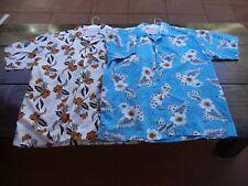 Dophino mens Hawaiian shirt size L lot of 2 Nice!!