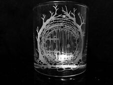 Lord of the Rings Inspired Hobbit Door - Rock Glass - Etched