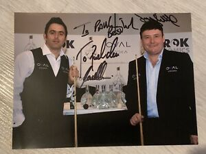 """X2 Ronnie O'Sullivan and Jimmy White Signed Photographs Dedicated  """"To Paul"""""""