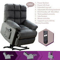 Electric Power Lift Recliner Chair Elderly Armchair Lounge Sofa Living Room w/RC