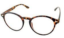 Brown Tortoiseshell Keyhole Bridge Frames Clear Oval Lens Glasses Style #1698