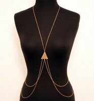Sexy Lady Bikini Crossover Waist Belly Harness Body Chain Necklace Jewelry Gift