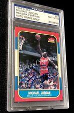 SIGNED 1986-87 FLEER 57 MICHAEL JORDAN REAL TRUE ROOKIE AUTO CARD RC PSA/DNA UDA