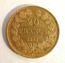 20 Francs Or LOUIS PHILIPPE - 1848 A PARIS