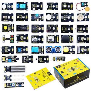 KEYESTUDIO 37 in 1 Sensor Electronics Components Starter Kit V3 for Arduino UNO