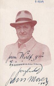 Hans Moser - Karte von 1947 - original signiert