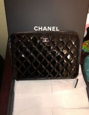Authentic New Chanel Patent Leather Xl Clutch/wallet Quilted Sold Out!
