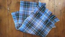 Manx Tartan Blue Highland Sash 100% Wool Isle of Man Manx