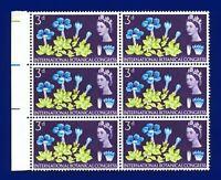 1964 SG655 3d Intl Botanical Congress Marginal Block (6) MNH Unmounted Mint alrt