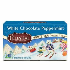 Celestial Seasonings White Tea, White Chocolate Peppermint, 20 Count