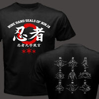 New Nine Hand Seals of Ninja Ninjutsu Bujinkan Kuji In Mantra Symbol T-shirt