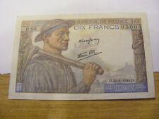 A 1944 France 10 Francs Banknote, UNC very crisp but tiny mark on back