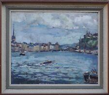 Unbekanter Impresionista - Ciudad Am Agua - Suecia - Escandinavia -ölgemälde