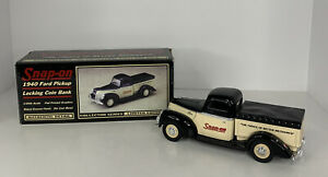SNAP-ON TOOLS LIMITED EDITION 1940 FORD PICKUP TRUCK 1:25 LOCKING COIN BANK