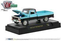 1:64 M2 Machines *AUTO-TRUCKS R54* Blue & Black 1969 Ford F-100 Pickup Truck NIB