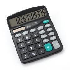 12-Digit Desktop Calculator Solar Battery Big Button Dual Power Large Display US
