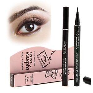 Monomola Eyebrow Stencil Tattoo Eye Liner Long Lasting Semi Permanent Make Up
