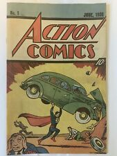 ACTION COMICS No. 1 JUNE, 1938 SUPERMAN COMIC BOOK 1987 REISSUE QUICK VG