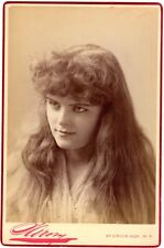 *SULTRY ACTRESS VIOLET DE FRIES MAGNIFICENT 1890 NAPOLEON SARONY CABINET PHOTO*