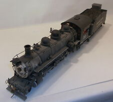 On3 BRASS UNK CRYSTAL RIVER & WESTERN 2-8-2 MIKADO LOCO #16 PAINTED & WEATHERED