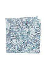 Jack Spade Men's - NWT -  Blue Floral Fauna Leaf Cotton Pocket Square
