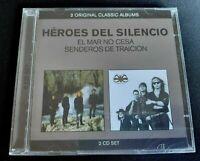 HEROES DEL SILENCIO - EL MAR NO CESA + SENDEROS DE TRAICIÓN CDx2 SPAIN (NUEVO)