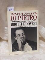 Antonio Di Pietro Costituzione Italiana diritti e doveri