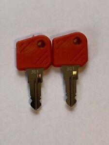 2 x Zündschlüssel 301 Schlüssel Yale Hyster  Stapler Gabelstapler Baumaschinen