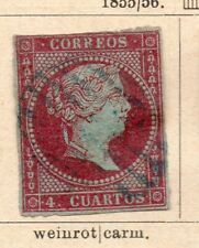 Spain 1855-56 Early Issue Fine Used 4c. NW-16517