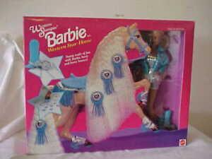 "Barbie Western  Doll & Western  Star ""Stampin""  Horse Set 1993 NRFB"