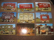 LOT of 27 vintage POSTCARDS PHOTOS > CIRCUS WAGONS color ~5x8
