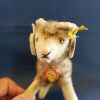 """VINTAGE Steiff Wool Plush Wotan RAM 4"""" Tall, ALL ID, ST #1512,00 PRESTINE - RARE"""
