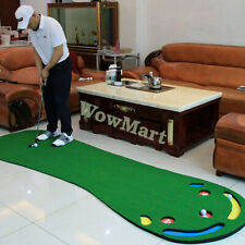Golf Practice Training Kit Synthetic Grass Turf 7-Hole Green Putting Mat 1x3 m