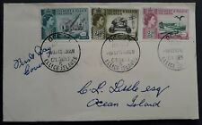 RARE 1960 Gilbert & Ellice Islands Phosphate Discovery FDC ties set of 3 stamps