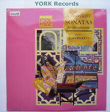 PAN 6205 - SCARLATTI - Sonatas For Harpsichord JOHN BECKETT - Ex Con LP Record