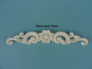 Decorative flower scroll center resin furniture mouldings appliques onlays Z8