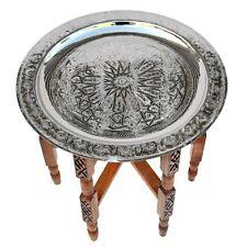 Marokkanischer Tisch aus Messing orientalischer Beistelltisch Teetisch D50