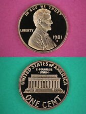 Roll of 50 1981 S Proof Lincoln Memorial Cents In Flips DCAM Flat Rate Shipping