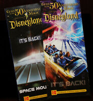 Disneyland Space Mountain Main Gate Guide Map (2) Walt Disney Brochure Fold-out