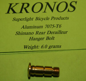 Kronos 7075-T6 Alloy Shimano Rear Derailleur Pivot Bolt - Gold